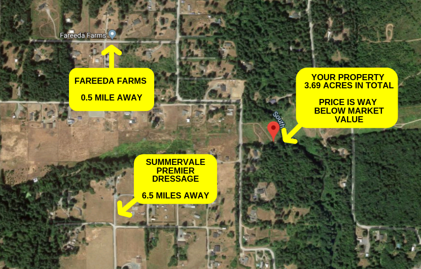 3.69 Acres Pierce County, WA – Way Below Market Value