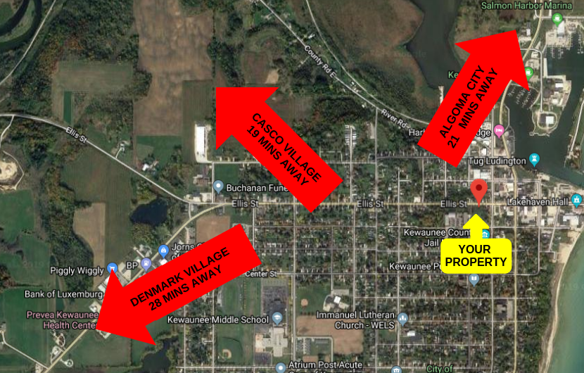 0.688 ACRES IN KEWAUNEE, WI – WAY BELOW MARKET VALUE
