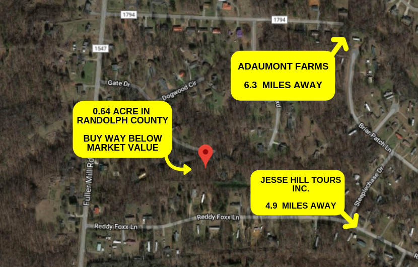 0.64 ACRES IN RANDOLPH COUNTY, NC- WHOLESALE DEAL